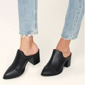 Report Black Studded Mules